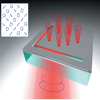 Plasmonic polarization generator in well-routed beaming